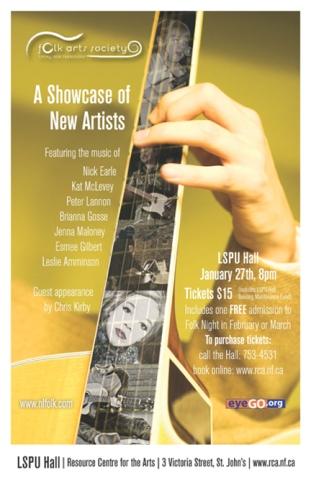Folk Arts Society, lspu Hall, RCA st. john's, NL, caroline clarke, graphic design, illustration, posters
